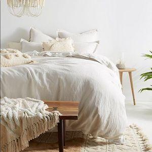 Anthropologie Relaxed Linen Duvet Cover